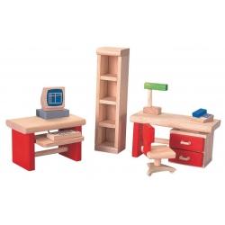 POKÓJ BIUROWY drewniane meble dla lalek
