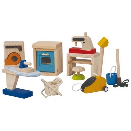 Drewniane akcesoria dla laleczek
