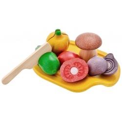 Drewniane warzywa do nauki krojenia