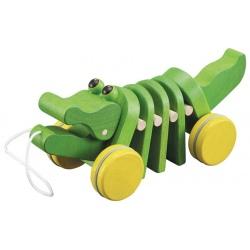 Krokodyl do ciągnięcia na sznurku