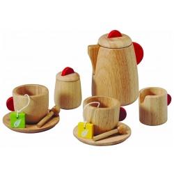 Drewniany serwis do herbaty dla lalek