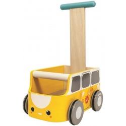 VAN drewniany żółty chodzik