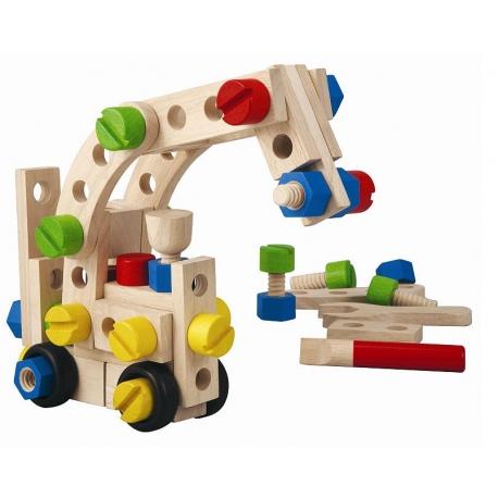 Drewniany zestaw konstrukcyjny 60 części
