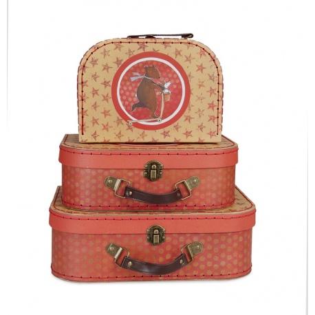 MIŚ W PODRÓŻY walizki na zabawki