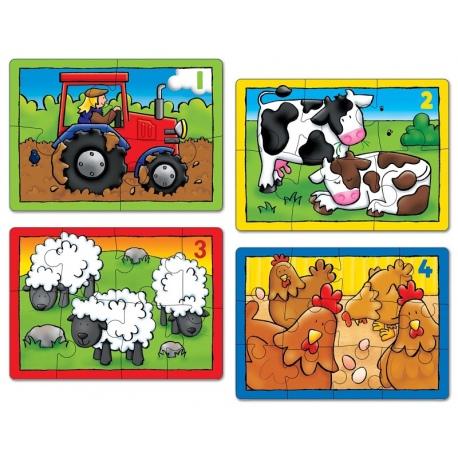 FARMA tekturowe puzzle 4 w 1