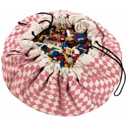 RÓŻOWE ROMBY worek na zabawki