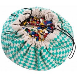 ZIELONE ROMBY worek na zabawki