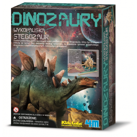 Szkielet dinozaura - Stegozaur