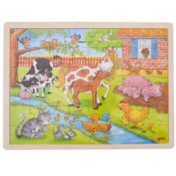 WIZYTA W ZOO drewniane puzzle 48 el.
