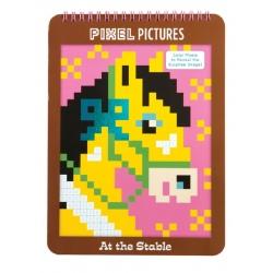 KONIE kolorowanka piksele