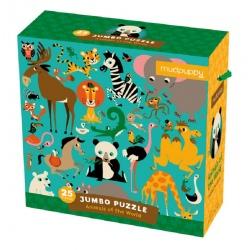 ZWIERZĘTA ŚWIATA puzzle podłogowe jumbo 25 el.