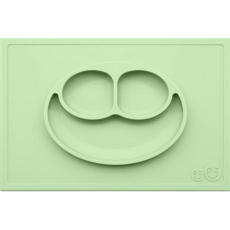 ZIELONY TALERZYK z podkładką 2w1 Happy Mat Pastel