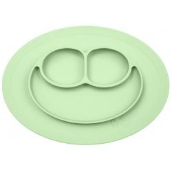 ZIELONY TALERZYK z podkładką 2w1 Mini Mat Pastel