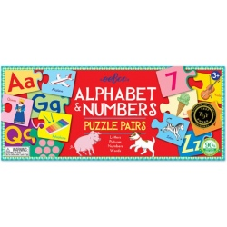 ALFABET I CYFRY puzzle do pary nauka angielskiego