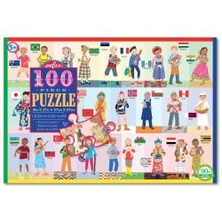 DZIECI ŚWIATA puzzle tekturowe 100 el.