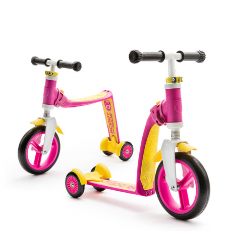 HIGHWAYBABY plus hulajnoga rowerek 2w1 pink