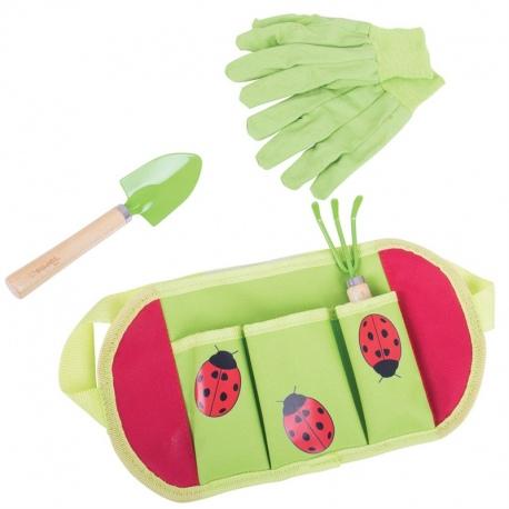 PAS OGRODOWY z narzędziami do zabawy