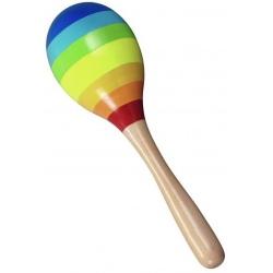 TĘCZOWY MARAKAS drewniany instrument