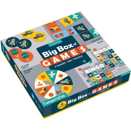 POJAZDY zestaw gier 4w1 memo bingo domino koło fortuny