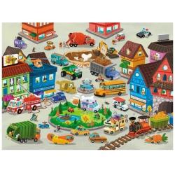 MIASTO puzzle podłogowe w tubie 50 el.