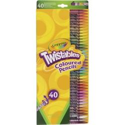 TWISTABLES wykręcane kredki ołówkowe 40 szt.