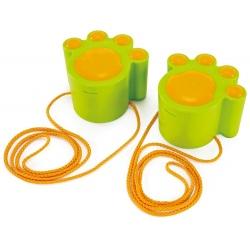 KOCIE ŁAPKI zielone szczudła ze sznurkami