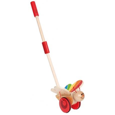 MOTYLEK drewniana zabawka do pchania