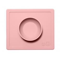 RÓŻOWA pastelowa miseczka z podkładką 2w1 Happy Bowl