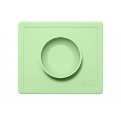ZIELONA pastelowa miseczka z podkładką 2w1 Happy Bowl