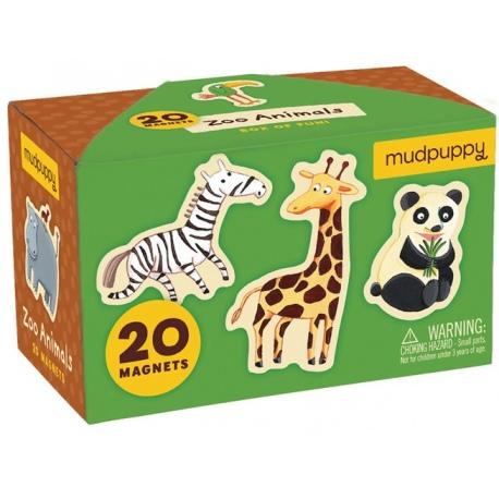 ZWIERZĄTKA zoo zestaw magnesów 20 szt.