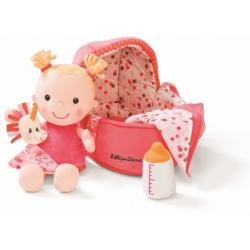 BABY LOUISE lalka szmacianka w nosidełku