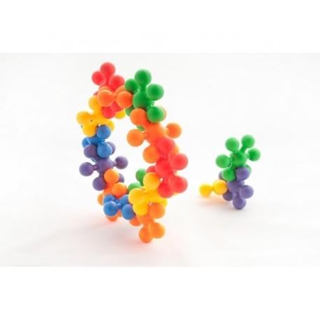 GWIAZDKI kolorowe klocki w pudełku zestaw 250 szt.