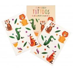 DZIKIE ZWIERZĄTKA zestaw tatuaży