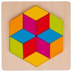 ROMBY drewniana układanka geometryczna