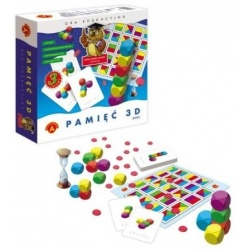 PAMIĘĆ 3D maxi gra edukacyjna 3w1