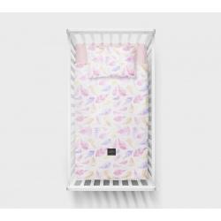 PAPROCIE różowa pościel poszewki 100x135