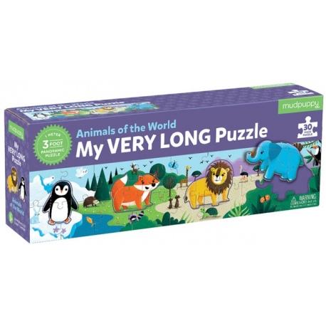 ZWIERZĘTA ŚWIATA tekturowe puzzle 30 el.
