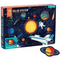 UKŁAD SŁONECZNY puzzle z elementami w kształcie planet 70 el.