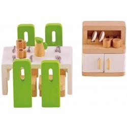 JADALNIA drewniane mebelki dla lalek