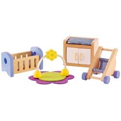 POKÓJ NIEMOWLAKA drewniane mebelki dla lalek