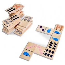 ZWIERZĄTKA drewniane domino XL