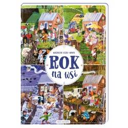 ROK NA WSI książka w twardej okładce Magdalena Kozieł-Nowak