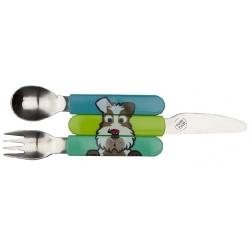 PIESEK zestaw sztućców nóż widelec łyżeczka