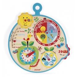 OVER THE TIME drewniany kalendarz nauka czasu