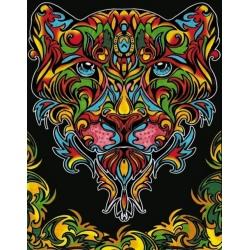 PANTERA kolorowanka welwetowa obraz 47x35 cm