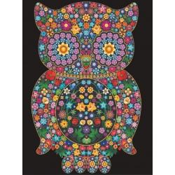 SOWA kolorowanka welwetowa obraz 47x35 cm