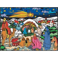SZOPKA BOŻONARODZENIOWA kolorowanka welwetowa 47x35 cm