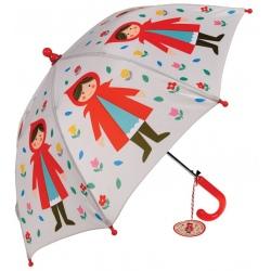 CZERWONY KAPTUREK kolorowa parasolka