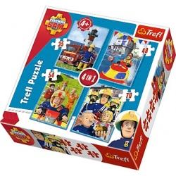 STRAŻAK SAM puzzle tekturowe 4w1