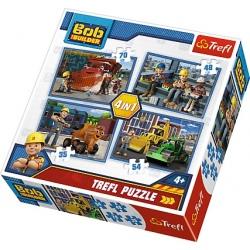 BOB BUDOWNICZY puzzle tekturowe 4w1